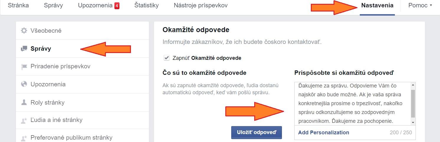 automaticka facebokova sprava
