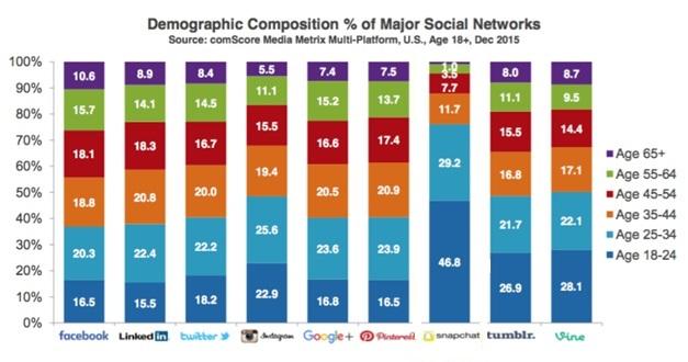 demografikce zlozenie uživateľov sociálnych sieti