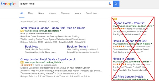 google zrušil pravý stlpec