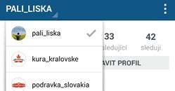 instagram prepinanie medzi uctami