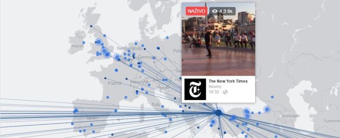 mapa live streamov na facebooku