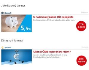 natívny spôsob poňatia reklamy